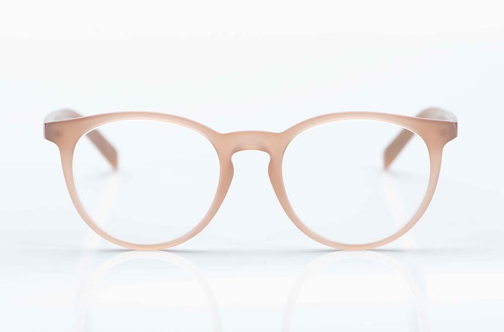 Oscar Magnuson – schlichte rose transparente matte Kunststoff Brille - KITSCHENBERG Brillen