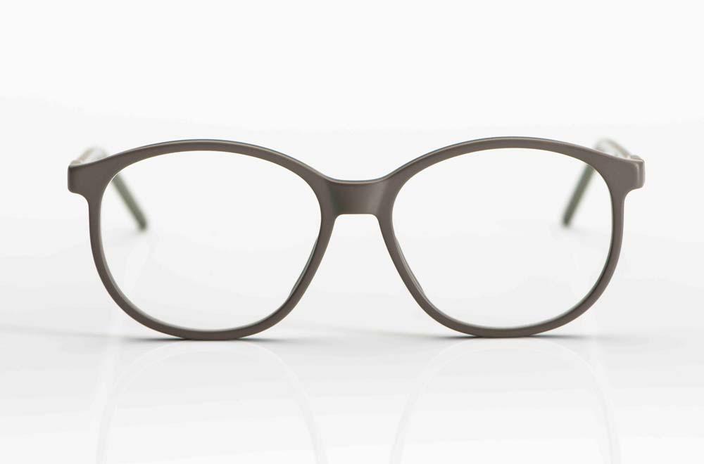 Reiz – matt graue große runde Acetat Brille - KITSCHENBERG Brillen
