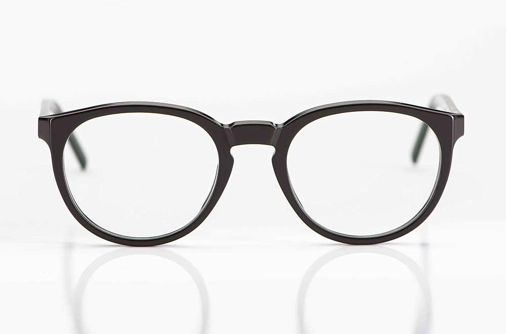 Reiz – schlichte runde Acetatbrille in dunklem Mokkabraun - KITSCHENBERG Brillen