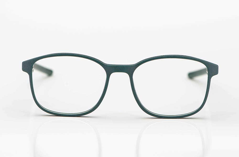 Voyou – dunkel grüne eckige 3D-gedruckte Brille aus München - KITSCHENBERG Brillen